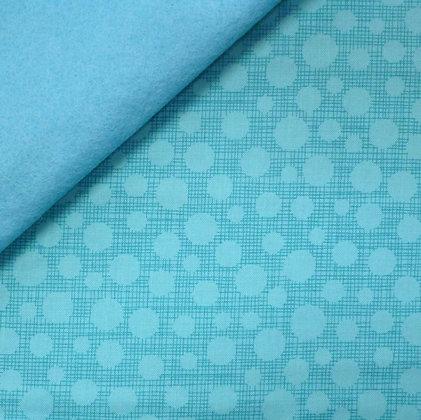 Fabric Felt :: Hash Tag Dot Aqua on Turquoise