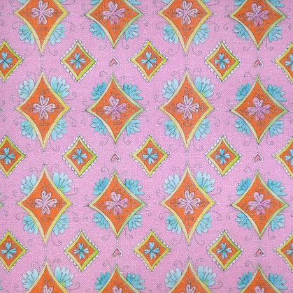 Fabric :: Waltz of Whimsy :: Pink Charmed Diamonds