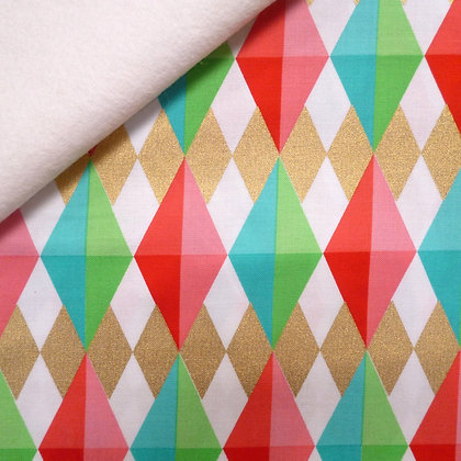 Fabric Felt :: Holiday Deeries :: Diamonds on White