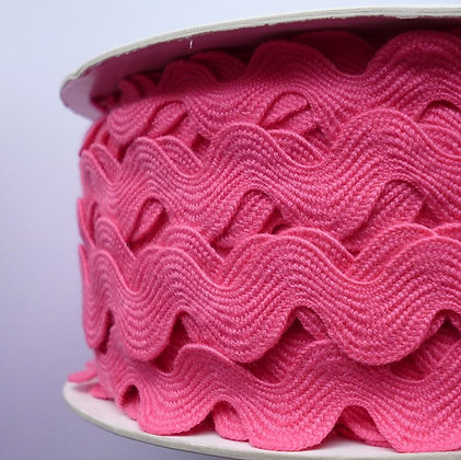 Cotton Feel Large Ric Rac ::Bright Pink