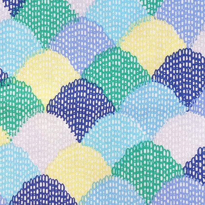 Fabric :: Hipster :: Blue Scallop