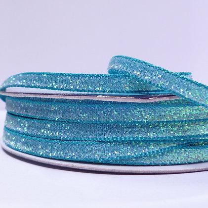 5mm Glitter Velvet Ribbon :: Turquoise