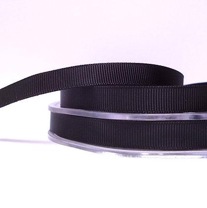10mm grosgrain :: by the metre :: Black