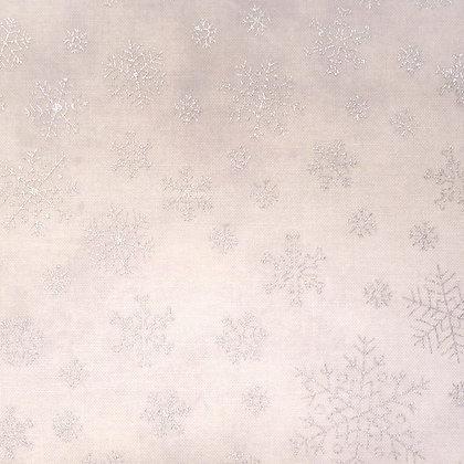 Fabric :: Sparkle Snowflakes :: White