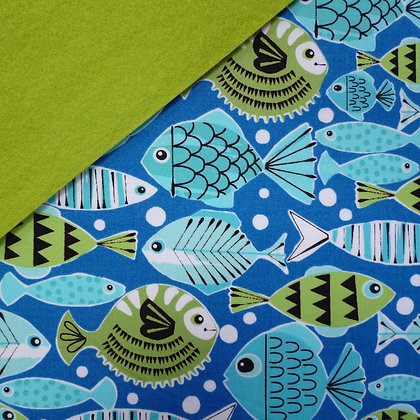 Fabric Felt :: Pets A Plenty Blue Fish on Leaf