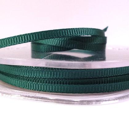 3mm Mini Grosgrain Ribbon (5 metres) :: Green