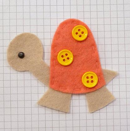 Coral :: Tortoise :: Handmade Embellishment