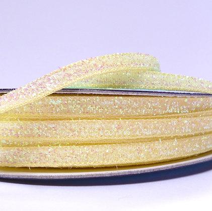 5mm Glitter Velvet Ribbon :: Lemon