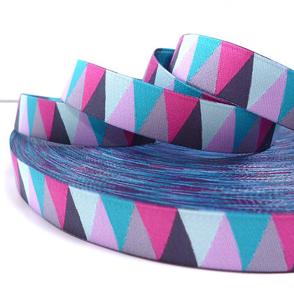 Embroidered Ribbon :: Pink Triangles