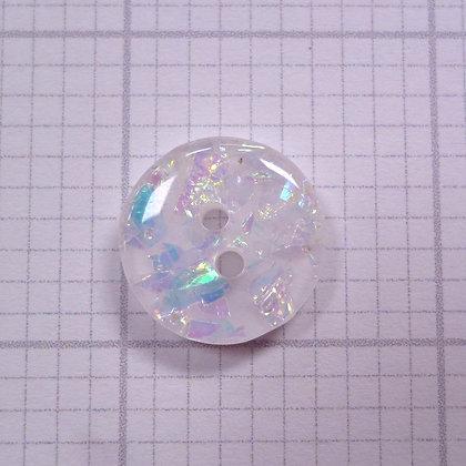 Diamond Glitter Button :: White