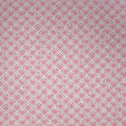 Fabric :: Diagonal Checks :: Pale Pink