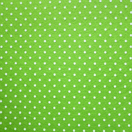 Polka Dot Felt Square :: LIME