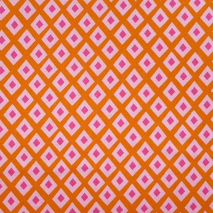Fabric :: Tangerine Diamond Spot