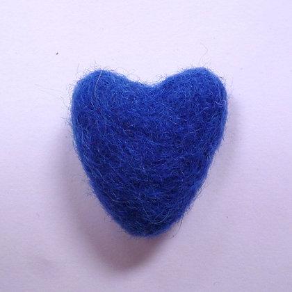 Felt Hearts 100% Wool :: French Navy