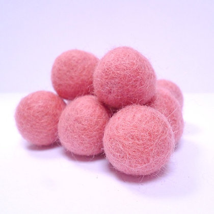 Loose Felt Balls 100% Wool :: Raspberry
