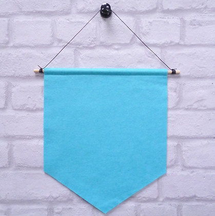 Turquoise :: Handmade banner for you to decorate