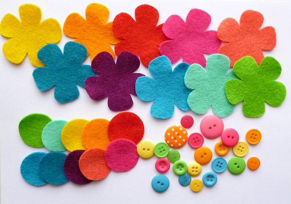 Felt Flower Kit :: Bright