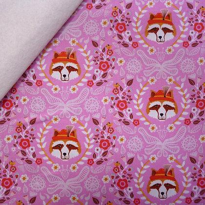 Fabric Felt :: Vienna :: Pink Racoon on Natural