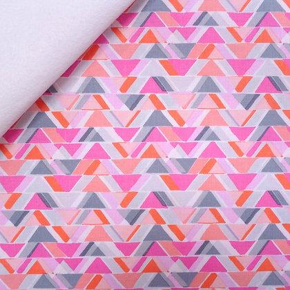 Fabric Felt :: Pastel Geo All Angles on White
