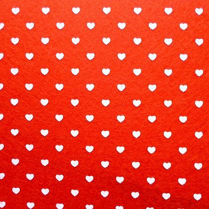 Heart Felt Square :: RED