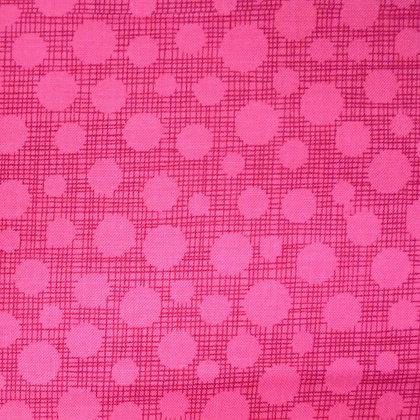 Fabric :: Hash Tag Dot :: Fuchsia