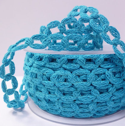 French Knit Chain :: Blue