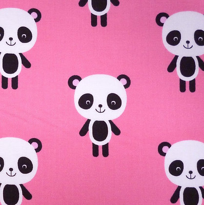 Fabric :: Zoologie :: Bright Pink Large Panda