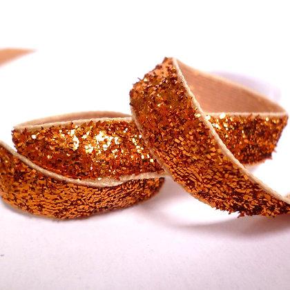 10mm Glitter Velvet Ribbon :: Orange