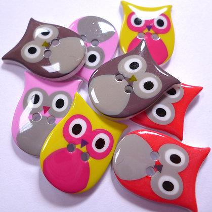 Fancy Owl Button
