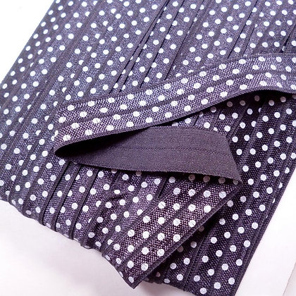 Polka Dot Fold Over Elastic :: Charcoal