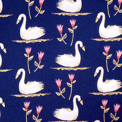Fabric :: Swans A Swimming :: Midnight