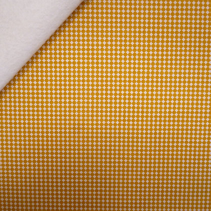 Fabric Felt :: Golden Days :: Mustard Diamond Dot on Natural