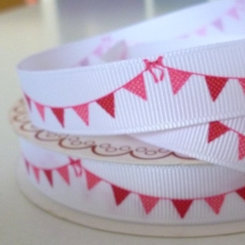 Bertie Bows Ribbon :: Pink Bunting