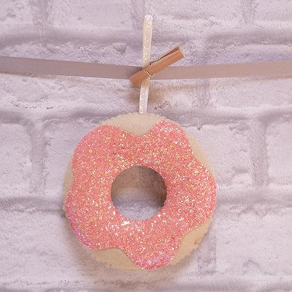 Handmade :: Doughnut :: Coral Glitter