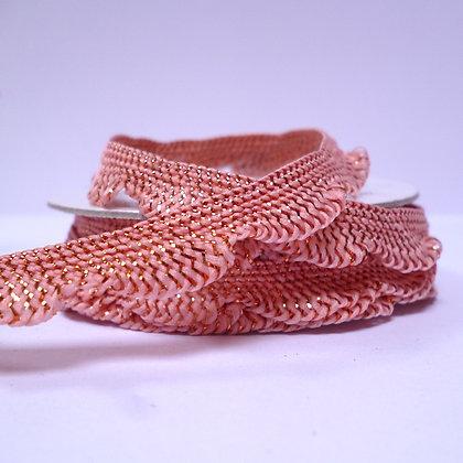 Metallic & Pastel Spool :: Scallop Frill :: Coral