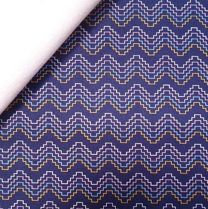 Fabric Felt :: Azure Skies :: Navy Aztec on White