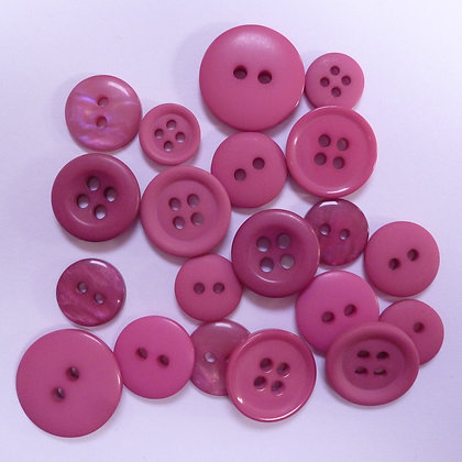 Dyed Pick & Mix Buttons :: Rose