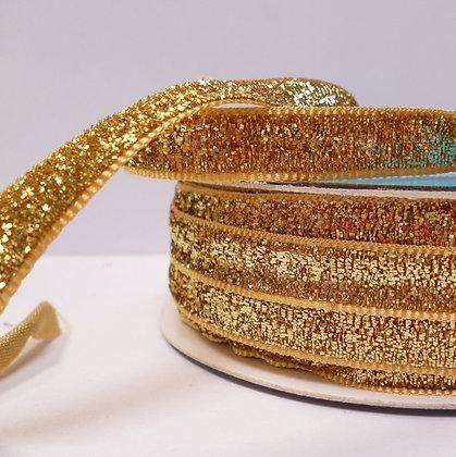 10mm LUXURY Glitter Velvet Ribbon :: Pale Gold