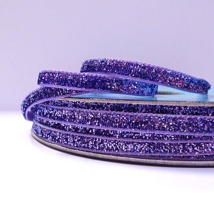 5mm Glitter Velvet Ribbon :: Purple