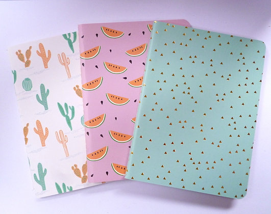 A6 Notebooks :: Pack of 3