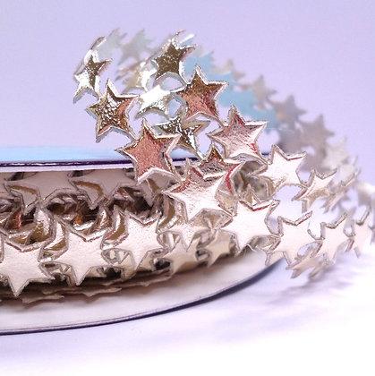 Cut Out Ribbon :: Tiny Stars :: Pale Gold