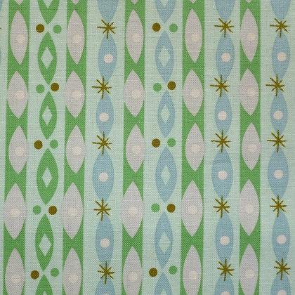 Fabric :: Way Up North :: Stripes & Ovals :: Mint