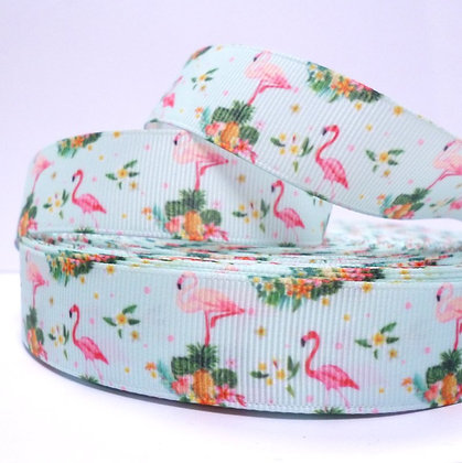Cute Grosgrain Ribbon :: Tropical Flamingo