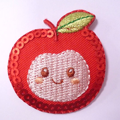 Embroidered Motif :: Happy Apple Sequins