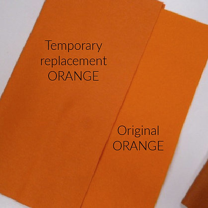 "Premium Felt :: 24"" square :: REPLACEMNET Orange"