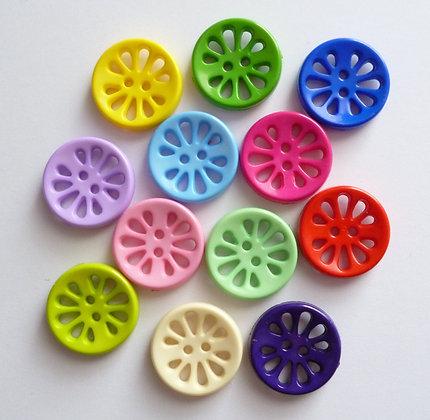 Circle Flower Buttons