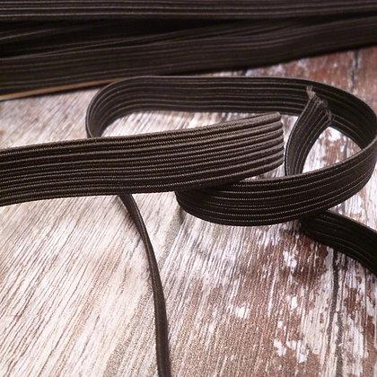 Braided Flat Elastic :: Firm :: Black