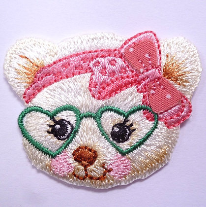 Embroidered Motif :: Cute Glasses :: Bear