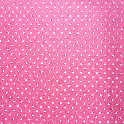 Polka Dot Felt Square :: BRIGHT PINK
