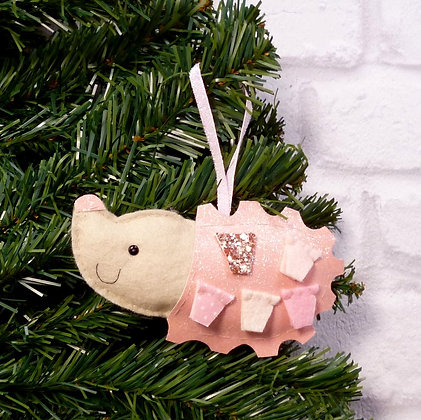 Hedgehog (Icy Pastel) Christmas Decoration Kit